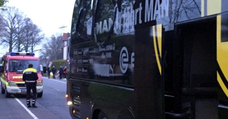 Mannschaftsbus, BVB, Borussia Dortmund, © Carsten Linhoff - dpa