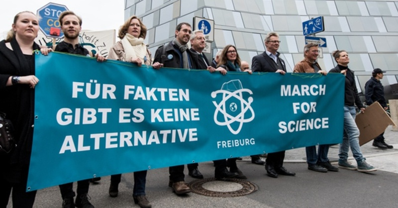 March for Science, Freiburg, Wissenschaftler, © Patrick Seeger - dpa