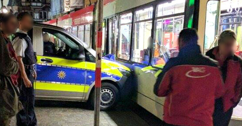 VAG, Unfall, Straßenbahn, Polizei, © baden.fm