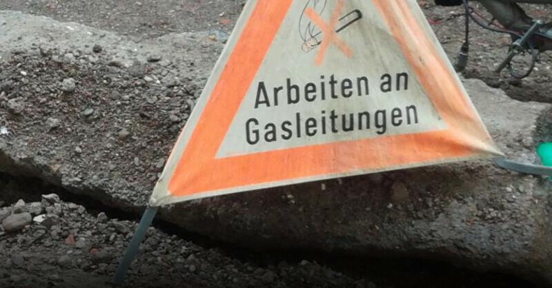 Gasarbeiten, Warnschild, Erdgas, © baden.fm