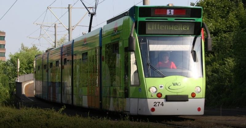 Straßenbahn, Tram, VAG, © Freiburger Verkehrs AG