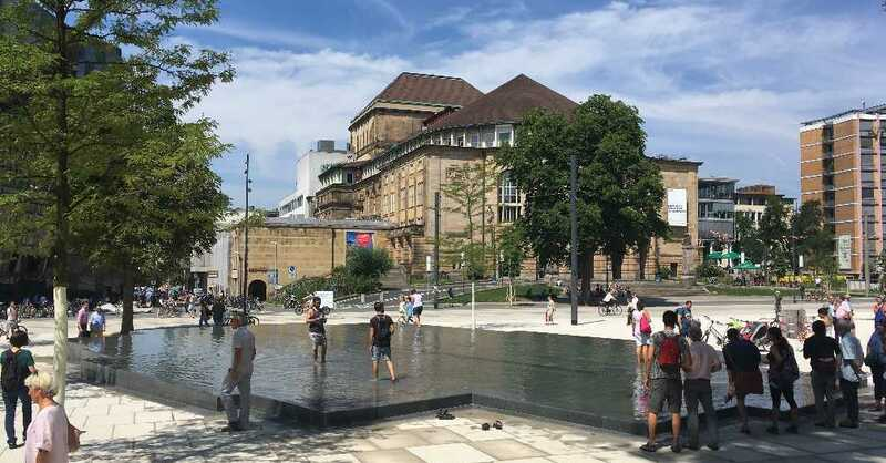 platz der alten synagoge, freiburg, 2017,, © baden.fm