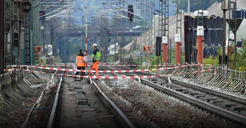 Rheintalbahn, Sperrung, Gleise, © Uli Deck - dpa