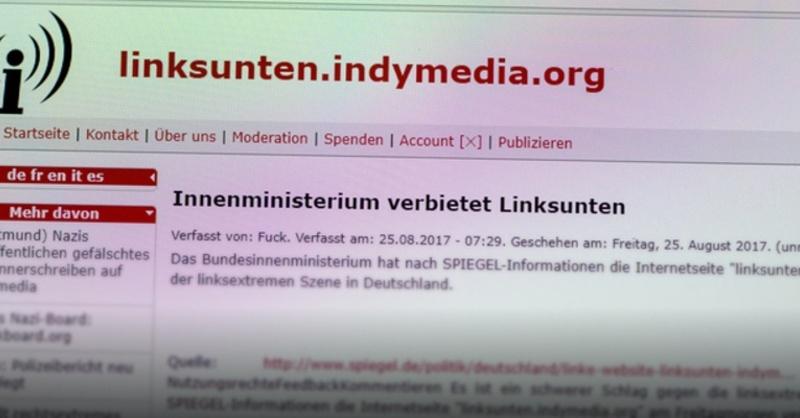 Linksunten, Indymedia, Webseite, Verbot, © Patrick Seeger - dpa