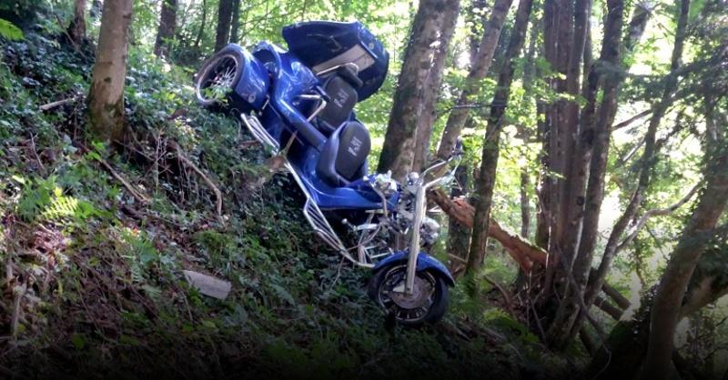 Trike, Unfall, Bergwacht, Simonswald, © Polizeipräsidium Freiburg