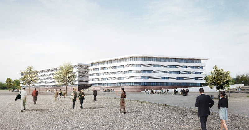 Kopfbau, FWTM, Messe, Freiburg, © Architekturbüro Wöhr / FWTM