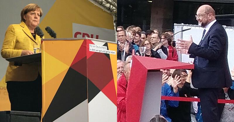 Martin Schulz, Angela Merkel, SPD, CDU, Freiburg, © baden.fm