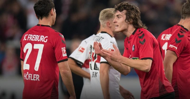 SC Freiburg, Caglar Söyüncü, Nicolas Höfler, VfB Stuttgart, © Deniz Calagan - dpa