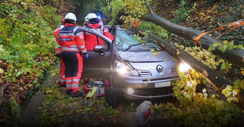 Schliengen, Unglück, Unwetter, Baum, © Polizeipräsidium Freiburg