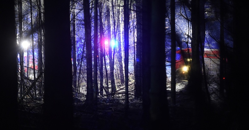 Wald, Feuerwehr, Flugzeugabsturz, © Felix Kästle - dpa