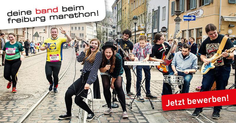 Bewerbung Freiburg Marathon 2018 Bands, © FWTM/Klaus Polkowski