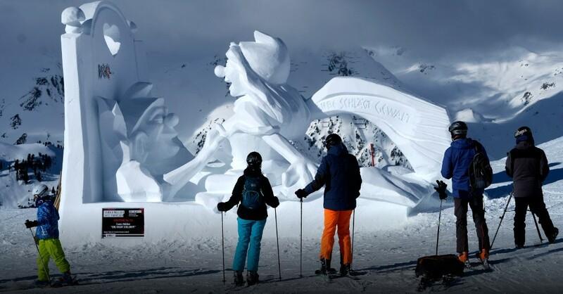 Schlümpfe, Sex, Skulptur, Schnee, © Tourismusverband Paznaun / Ischgl