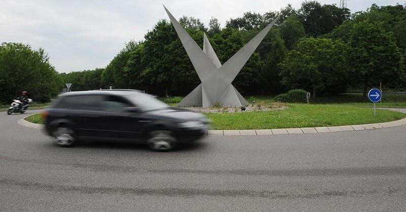 Binzen, Kreisverkehr, Dreispitz, © Patrick Seeger - dpa