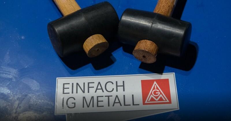 Warnstreik, IG Metall, © Paul Zinken - dpa
