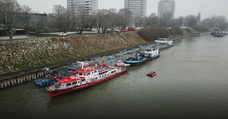 Havarie, Tankschiff, Rhein, Birsfelden, © Kantonspolizei Basel-Landschaft