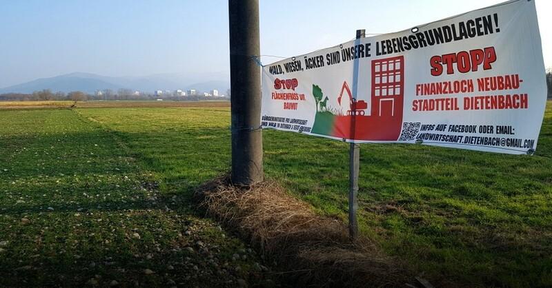 Dietenbach, Stadtteil, Acker, Freiburg, Wohnungsbau, Protest, © baden.fm