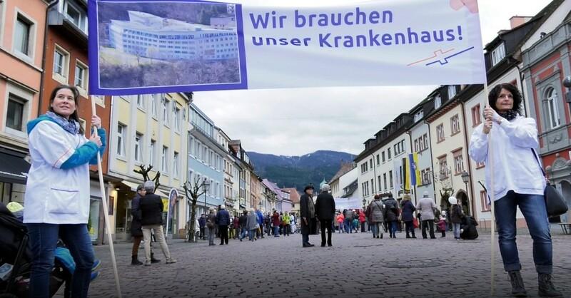 Protest, Bruder-Klaus-Krankenhaus, Waldkirch, © baden.fm