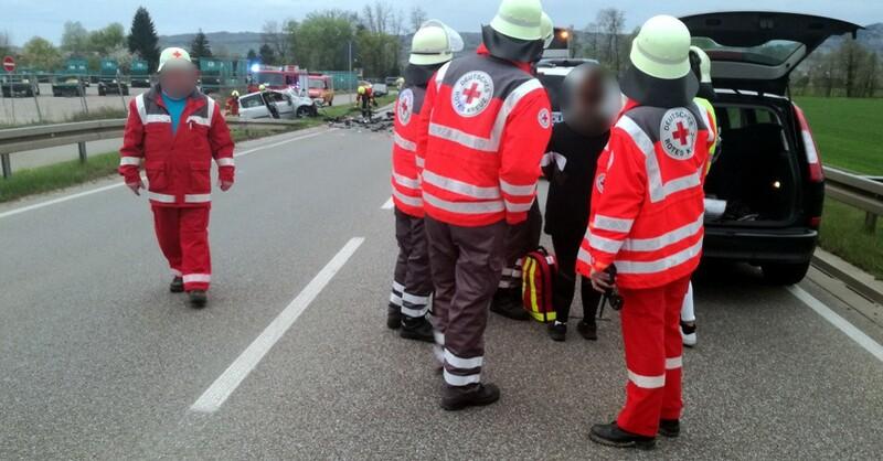 Unfall, March, Rotes Kreuz, DRK, © DRK Kreisverband Freiburg