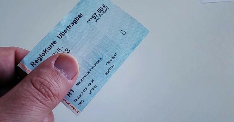 Regiokarte, Monatsticket, Fahrschein, VAG, © baden.fm (Symbolbild)