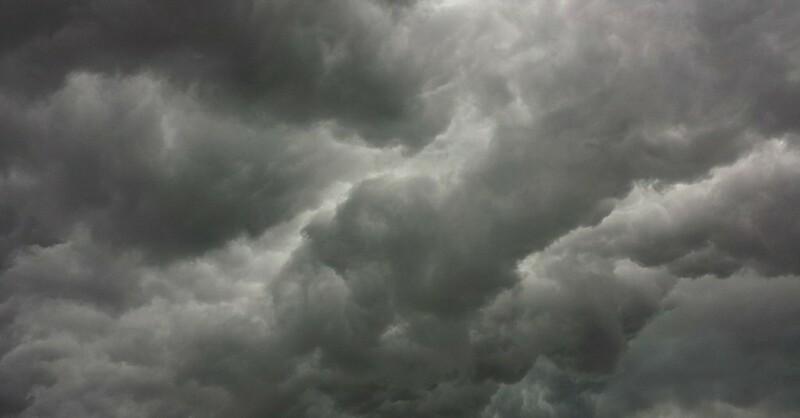 Regen, Unwetter, Gewitter, Wolken, © Pixabay (Symbolbild)