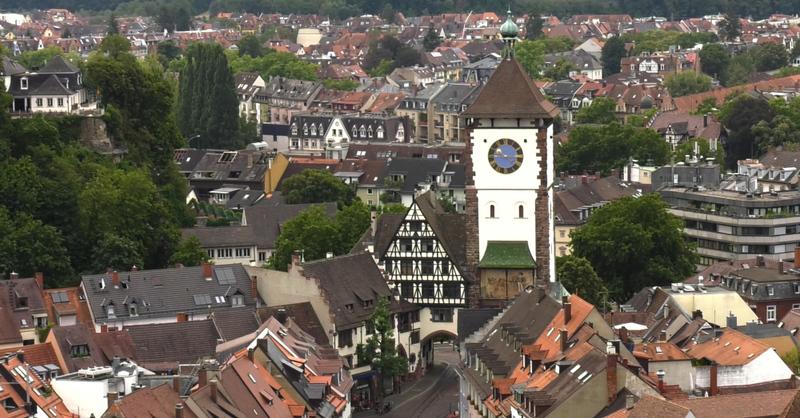 Schwabentor, Oberlinden, Freiburg, Altstadt, © baden.fm