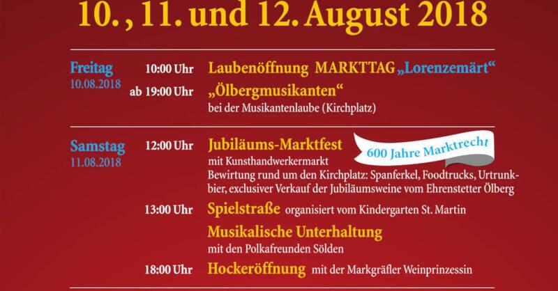 Flyer, Lorenzemärt, Hock, © Gemeinde Ehrenstetten