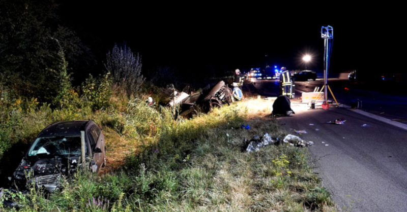 Unfall, A5, Renchen, Autobahn, © Benedikt Spether - dpa