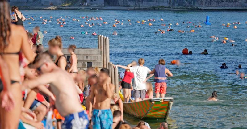 Kanton, Basel, Rheinschwimmen, © Juri Weiss - Staatskanzlei Basel-Stadt (Symbolbild)