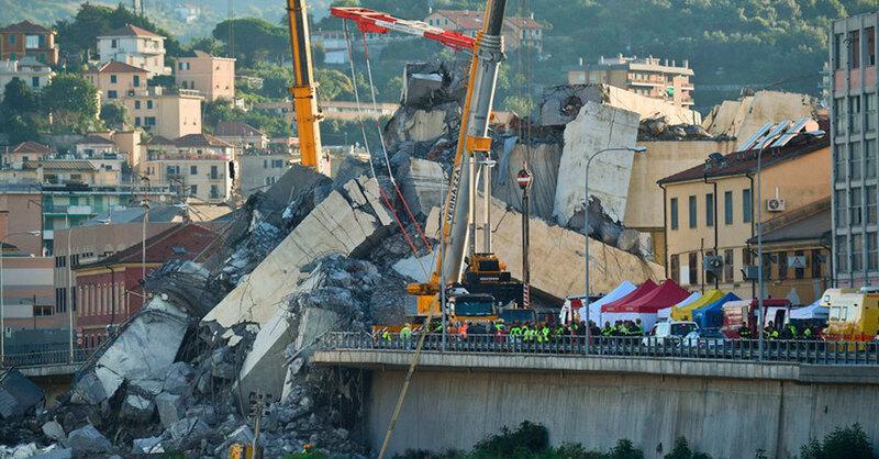 Autobahnbrücke, Genua, Einsturz, Italien, © Luca Zennaro - ANSA / ap / dpa