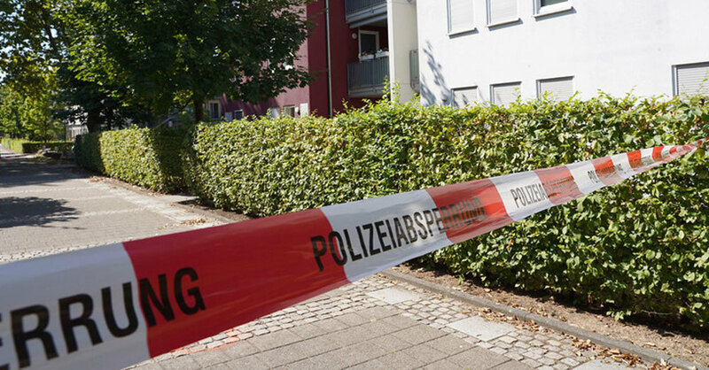 Offenburg, Arztpraxis, Polizeiabsperrung, © Benedikt Spether - dpa
