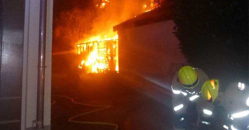 Feuer, Heitersheim, © Polizeipräsidium Freiburg