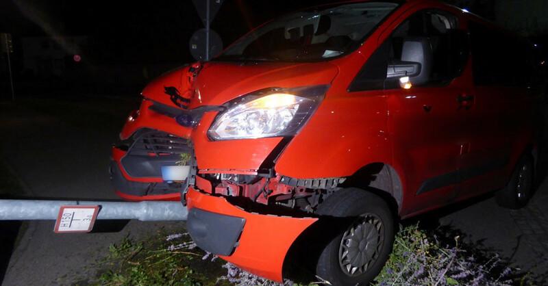 Unfall, Denzlingen, Laterne, © Polizeipräsidium Freiburg