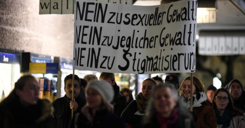 Demo, AfD, Vergewaltigung, Freiburg, © Patrick Seeger - dpa