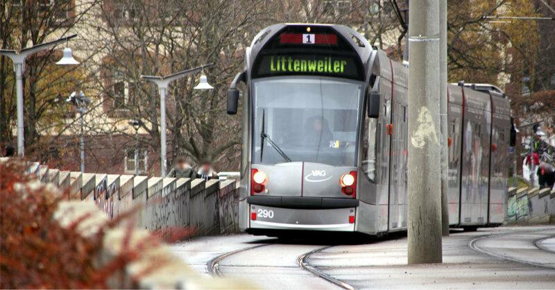 Straßenbahn, Linie 1, Littenweiler, © baden.fm (Symbolbild)