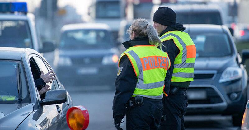 Grenzkontrolle, Verkehrskontrolle, Bundespolizei, Kehl, © Sebastian Gollnow - dpa (Symbolbild)