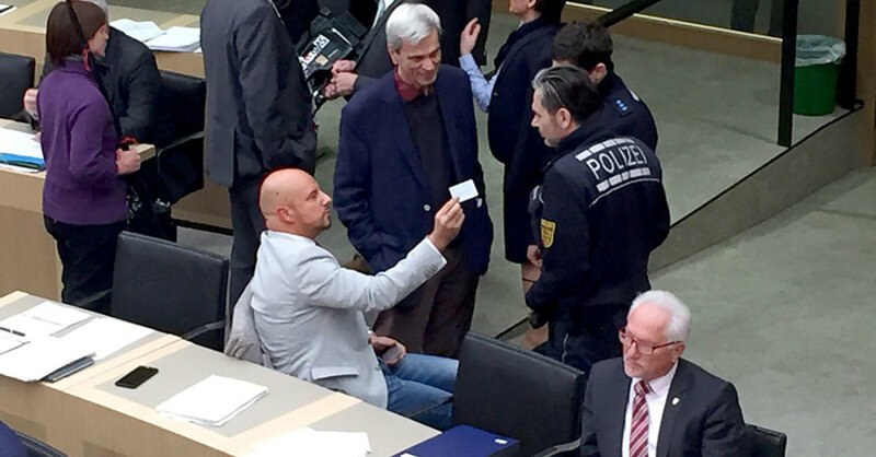 Landtag, Stuttgart, Stefan Räpple, AfD, Polizei, © Nico Pointer - dpa
