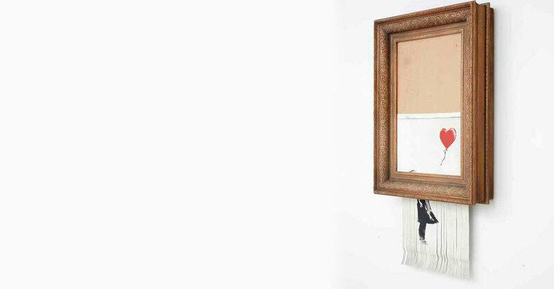 Banksy, Kunstwerk, Kunst, geshreddert, © Banksy / Museum Frieder Burda