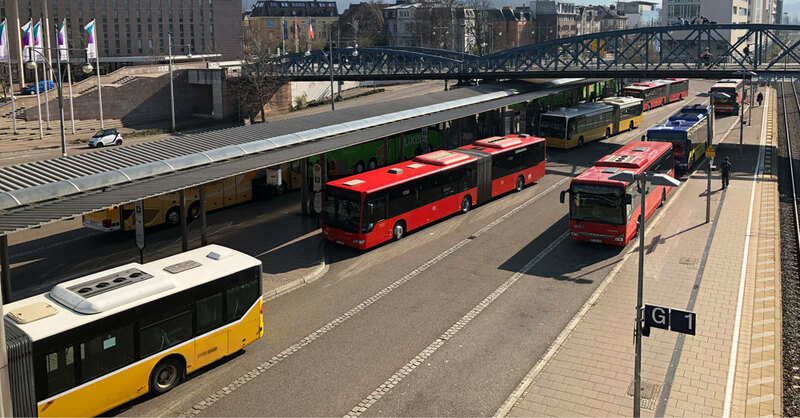 ZOB, Zentraler Omnibusbahnhof, Freiburg, © baden.fm (Symbolbild)