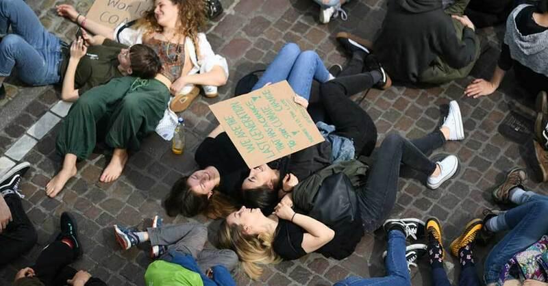 Klimastreik, Fridays for Future, Demo, Freiburg, © Patrick Seeger - dpa