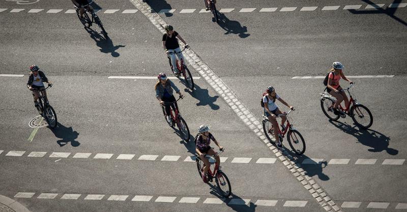 Fahrrad, Radfahrer, Verkehr, © Maja Hitij - dpa (Symbolbild)