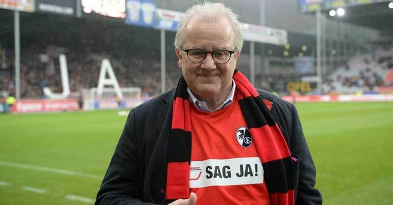 Fritz Keller, SC Freiburg, Präsident, Stadion, © Patrick Seeger - dpa