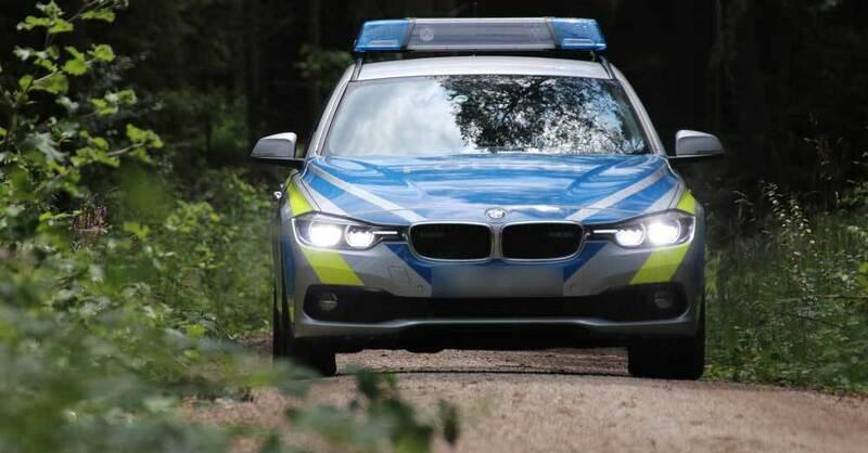 Polizei, Streifenwagen, Vermisstensuche, Wald, © Pixabay (Symbolbild)