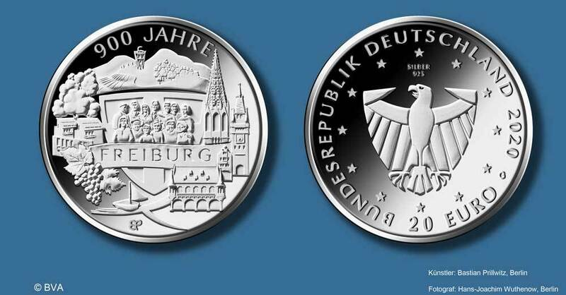 Jubiläum, Stadtjubilläum, Gedenkmünze, Münze, © BVA