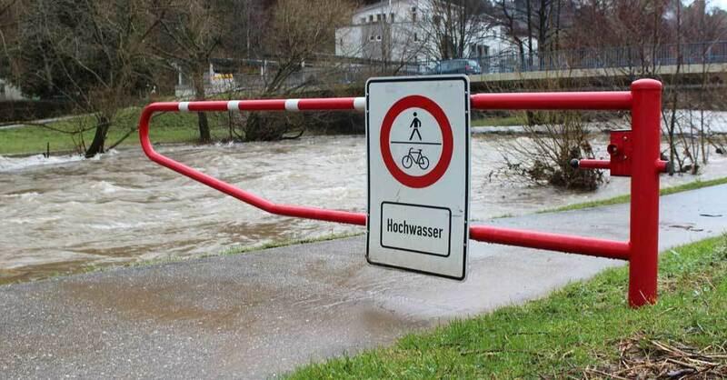 Waldkirch, Hochwasser, Elz, Absperrung, © baden.fm