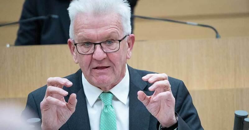 Winfried Kretschmann, Ministerpräsident, Landtag, Baden-Württemberg, © Sebastian Gollnow - dpa (Symbolbild)