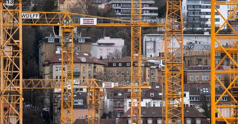 Baustelle, Kran, Wohnungsbau, © Marijan Murat - dpa (Symbolbild)