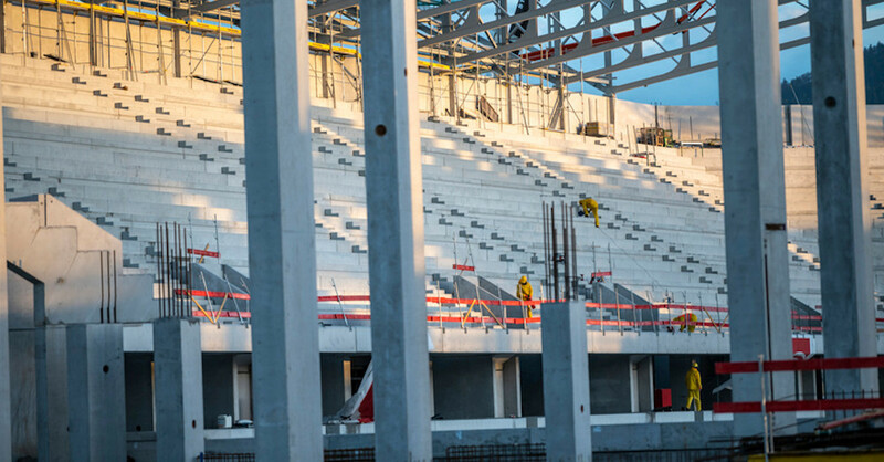 SC Freiburg, Stadion, Wolfswinkel, Baustelle, © Patrick Seeger - dpa