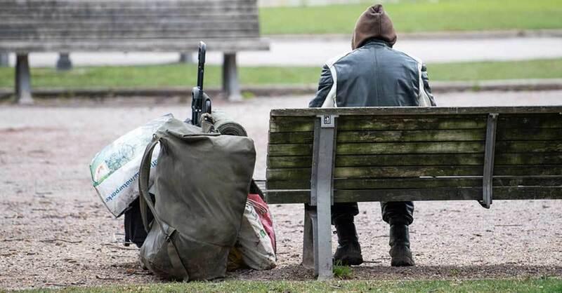 Obdachlosigkeit, Armut, Wohnungslosigkeit, © Sebastian Gollnow - dpa (Symbolbild)