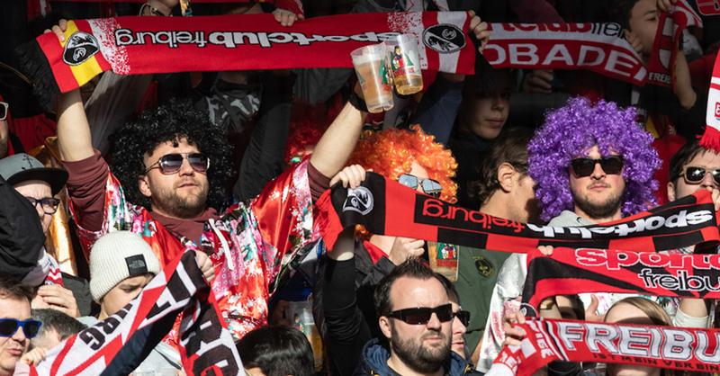 SC Freiburg, Bundesliga, Fans, Fußball, © Patrick Seeger - dpa (Symbolbild)