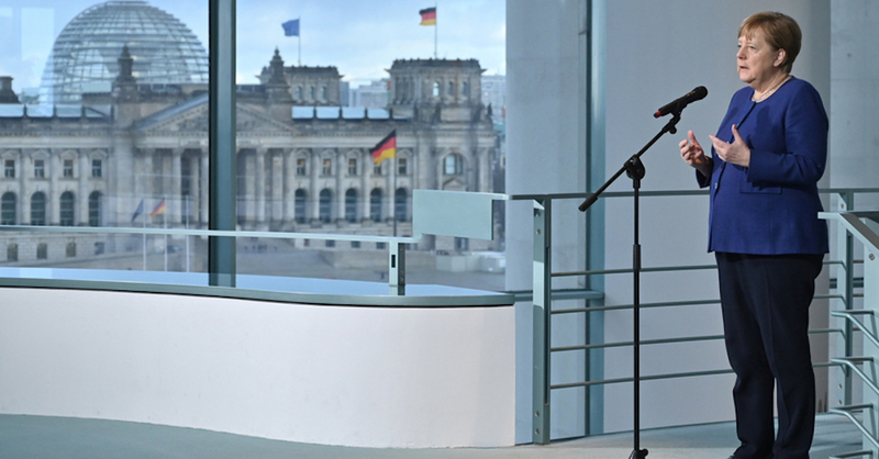 Bundeskanzlerin, Angela Merkel, CDU, Berlin, Bundestag, © John MacDougall - Pool AFP / dpa